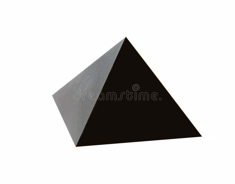 Pyramide noire image libre de droits