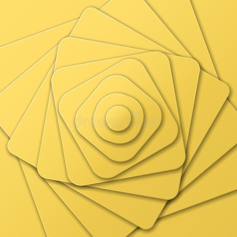 Pyramide posée des chiffres dans l'art optique, vue à partir de dessus illustration de vecteur