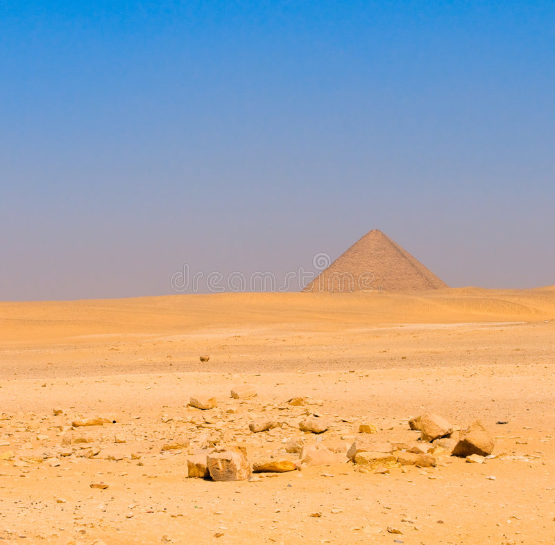 Pyramide rouge chez Dahshur, le Caire, Egypte photo libre de droits