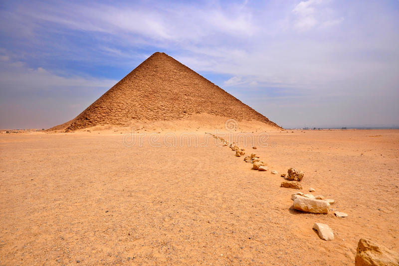 Pyramide rouge, Dashur, Egypte photographie stock libre de droits