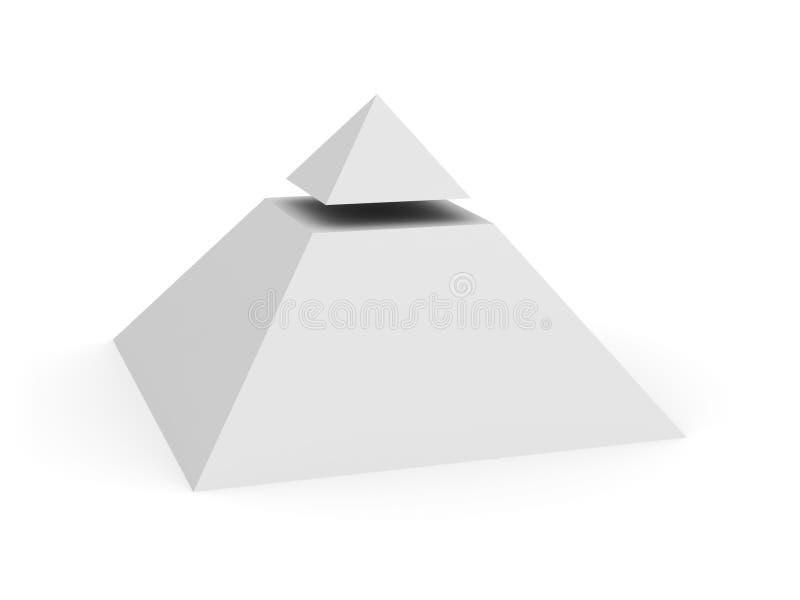 Pyramide un symbole illustration stock