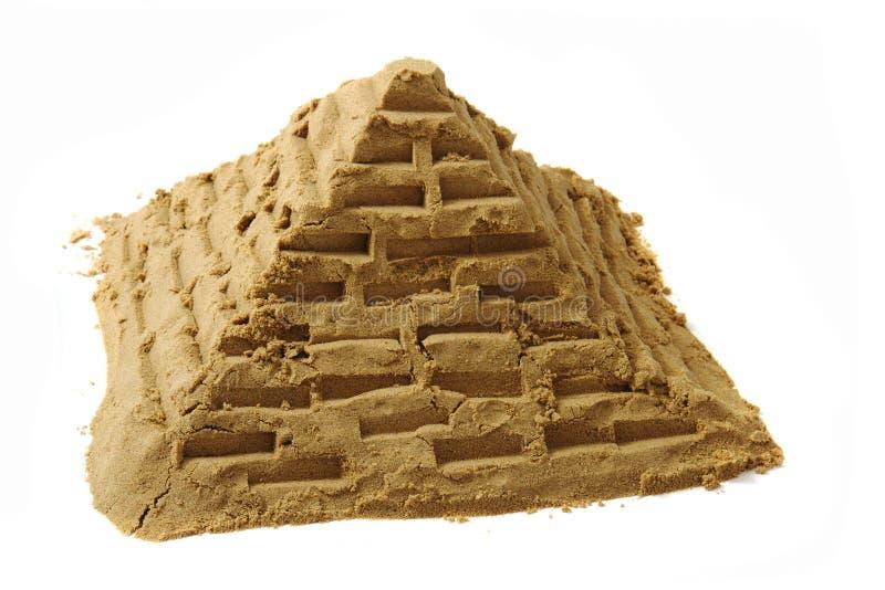 Pyramide van het zand stock afbeeldingen