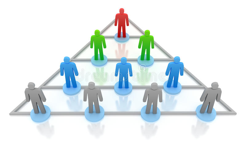Pyramidehierarchie. Geschäftskonzept vektor abbildung