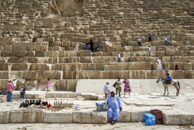 Pyramiden av Khufu i Egypten fotografering för bildbyråer