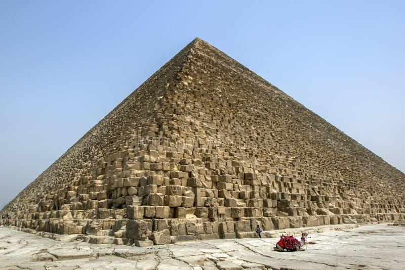 Pyramiden av Khufu i Egypten arkivbilder