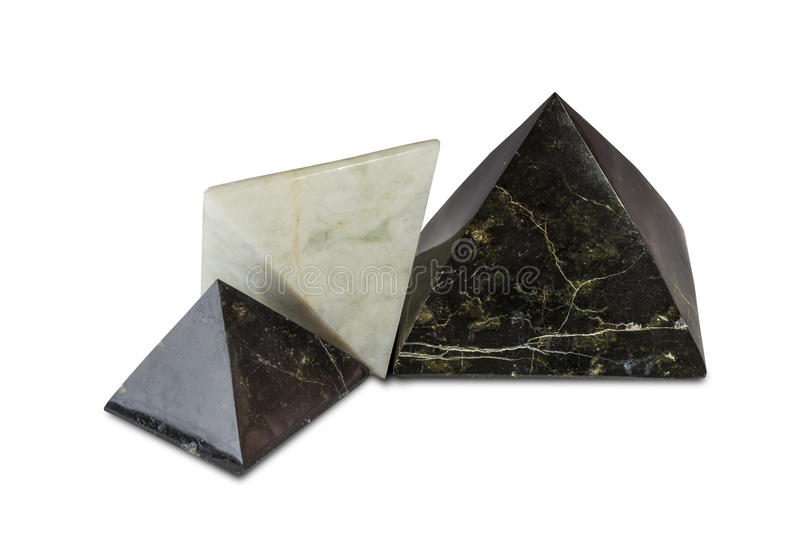 Pyramiden-Gruppe stockfotografie