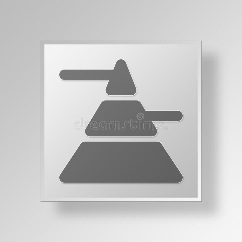 Download Pyramiden-Knopf-Ikonen-Konzept Des Marketing-3D Stock Abbildung - Illustration von hintergrund, taste: 90233213