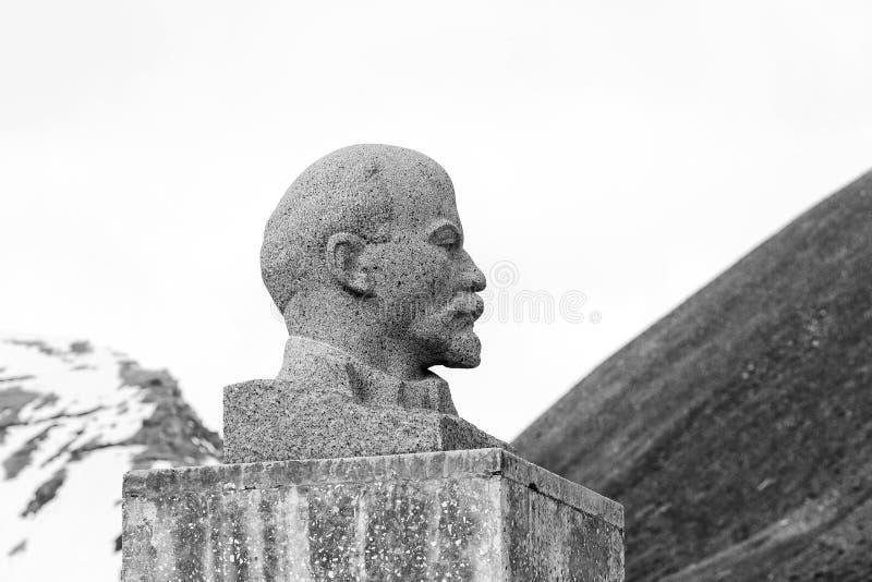 PYRAMIDEN NORWEGIA, Czerwiec, - 25, 2015: Powierzchowność popiersie Lenin zdjęcie stock