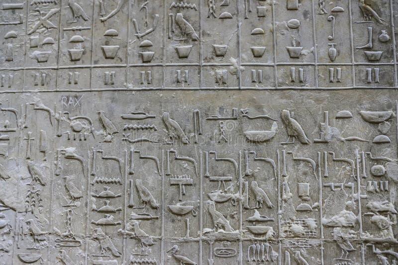 Pyramiden smsar i pyramid av Unas, Saqqara, Kairo, Egypten royaltyfri foto
