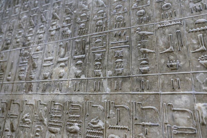 Pyramiden smsar i pyramid av Unas, Saqqara, Kairo, Egypten royaltyfria bilder