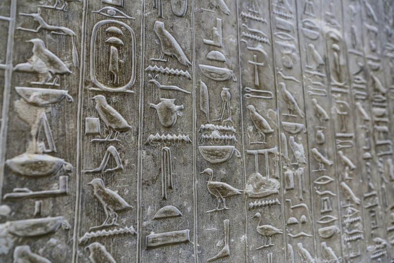 Pyramiden smsar i pyramid av Unas, Saqqara, Kairo, Egypten arkivbild