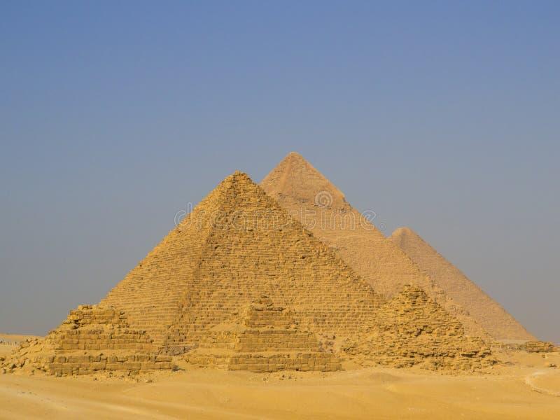 Pyramiden van Giza, Egypte stock afbeeldingen