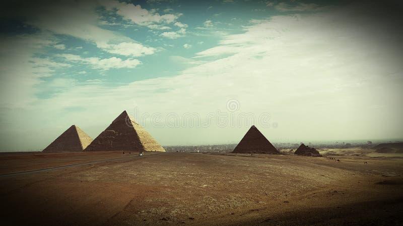 Pyramiden von Ägypten lizenzfreie stockbilder