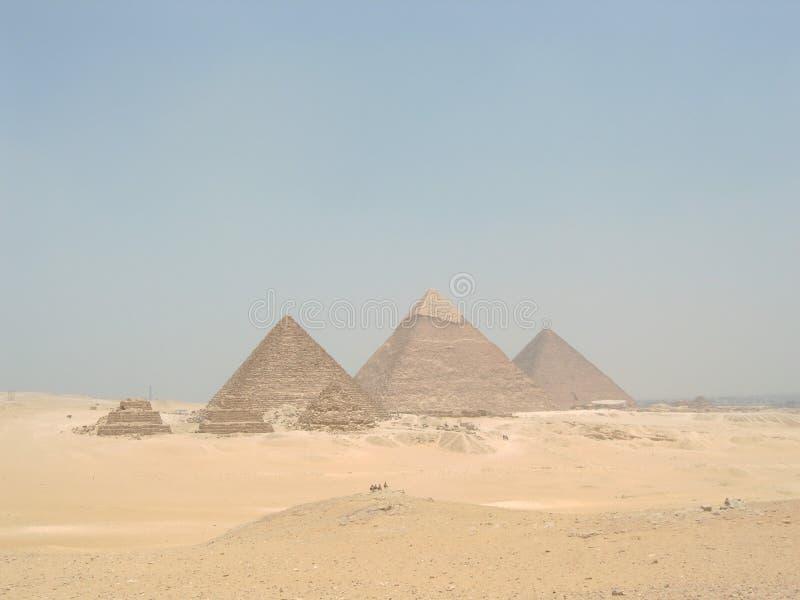 Pyramiden von Giza lizenzfreies stockbild