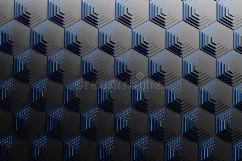 Pyramiden von schwarzen Hexagonen vektor abbildung