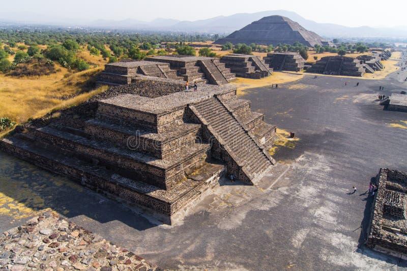 Pyramiden von TeotihuacÃ-¡ n, Mexiko stockfoto