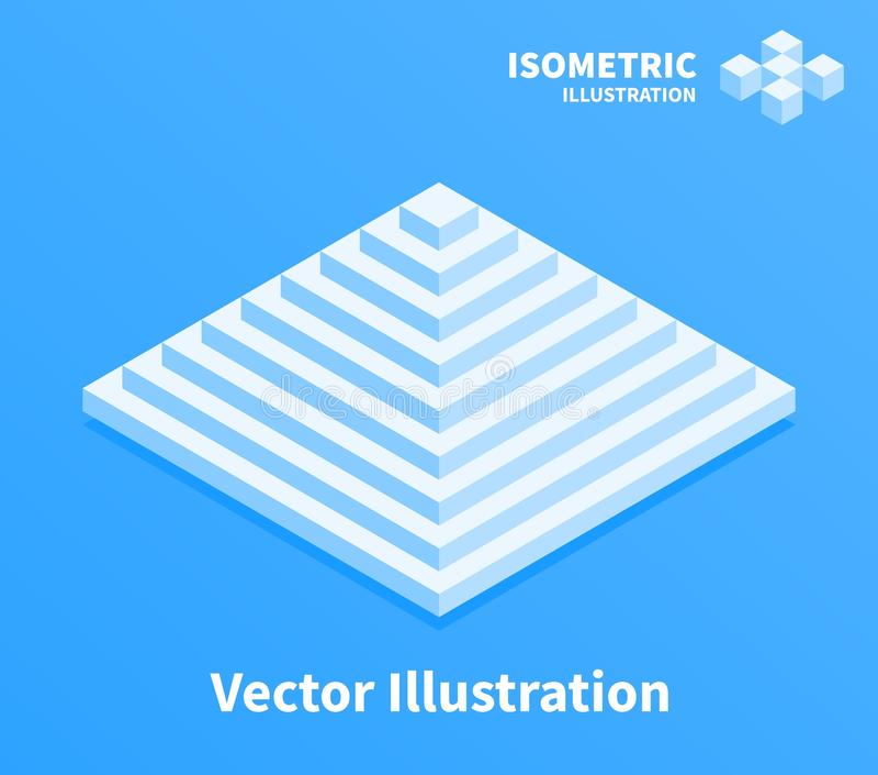 Pyramidenikone Geometrischer Aufbau vektor abbildung