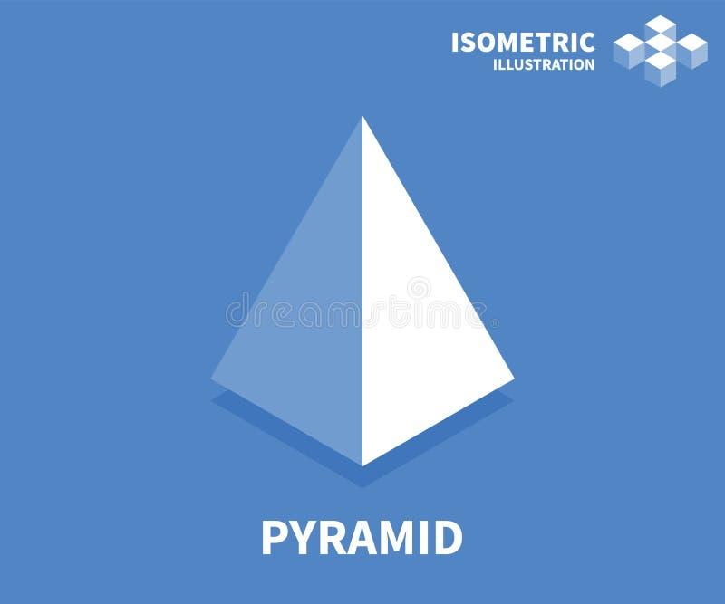 Pyramidenikone Isometrische Schablone für Webdesign in der flachen Art 3D Auch im corel abgehobenen Betrag lizenzfreie abbildung