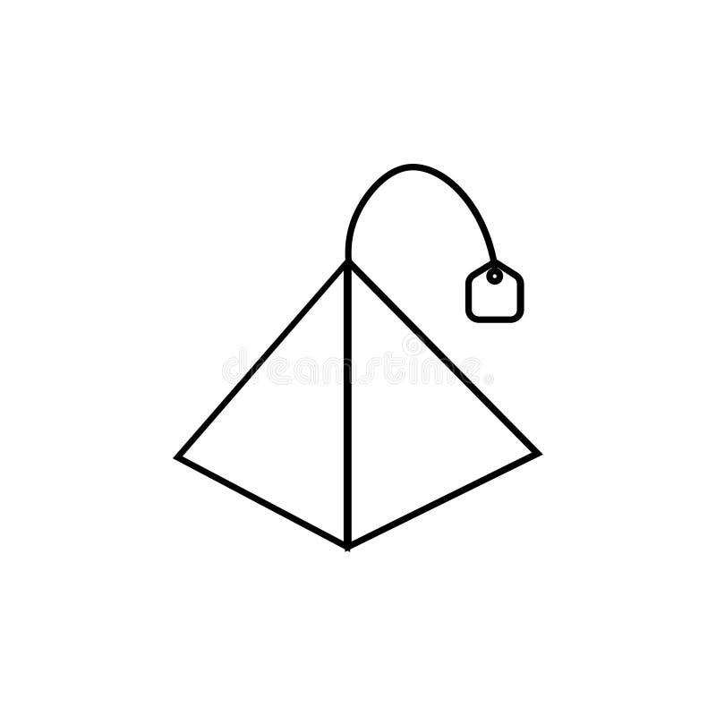 PyramidenTeebeutelikone vektor abbildung