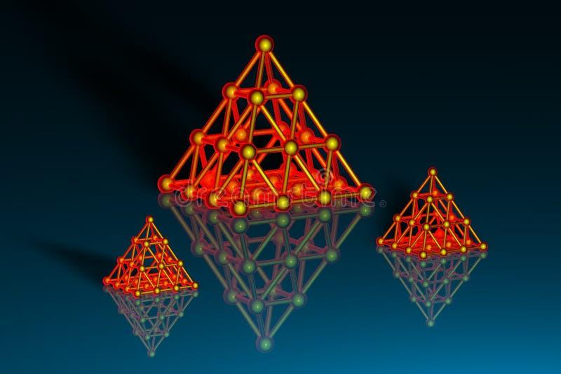 pyramider 3d stock illustrationer