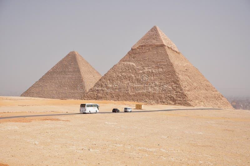 Pyramider av Egypten arkivbilder