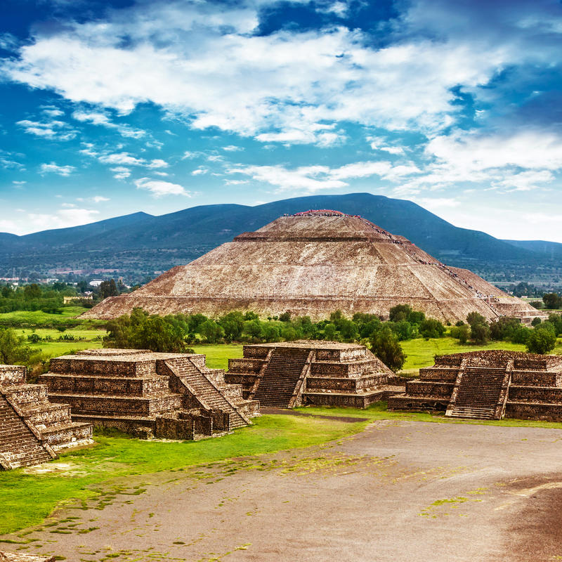 Pyramider av Mexico arkivfoto