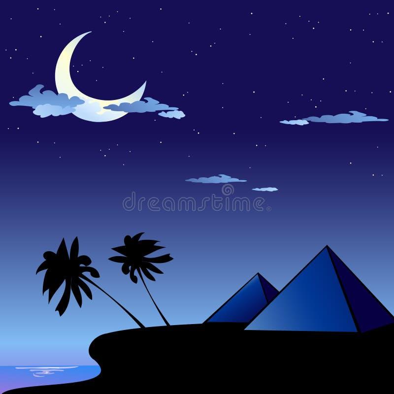 Pyramider i Egypten royaltyfri illustrationer
