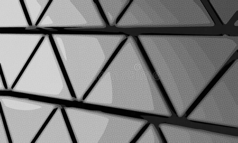 Pyramiderna gör sammandrag bakgrund från trianglar av grå färg vektor illustrationer