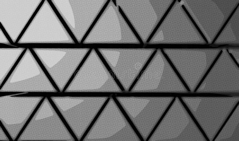 Pyramiderna gör sammandrag bakgrund från trianglar av grå färg stock illustrationer