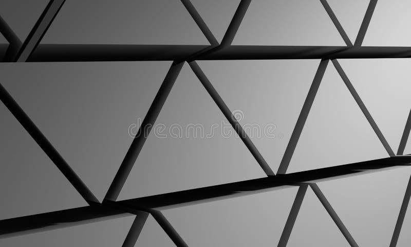 Pyramiderna gör sammandrag bakgrund från trianglar av grå färg illustration 3d royaltyfri illustrationer