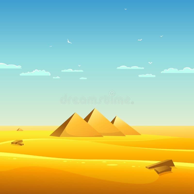 Pyramides égyptiennes illustration stock