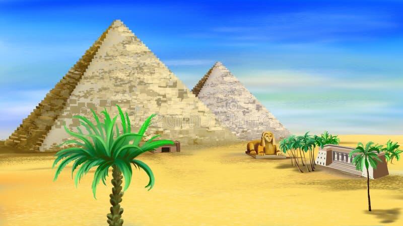 Pyramides égyptiennes illustration de vecteur