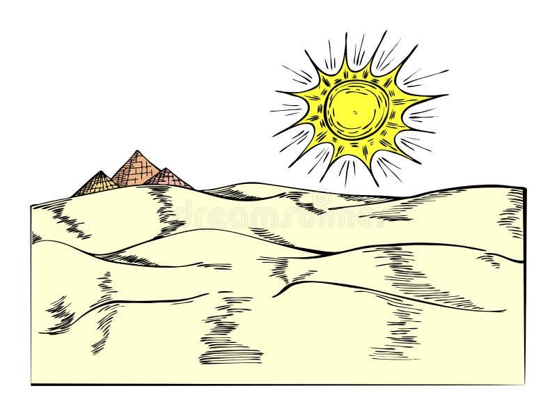 pyramides 皇族释放例证