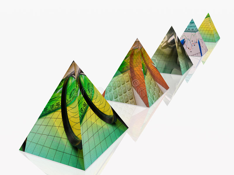 pyramides 库存例证