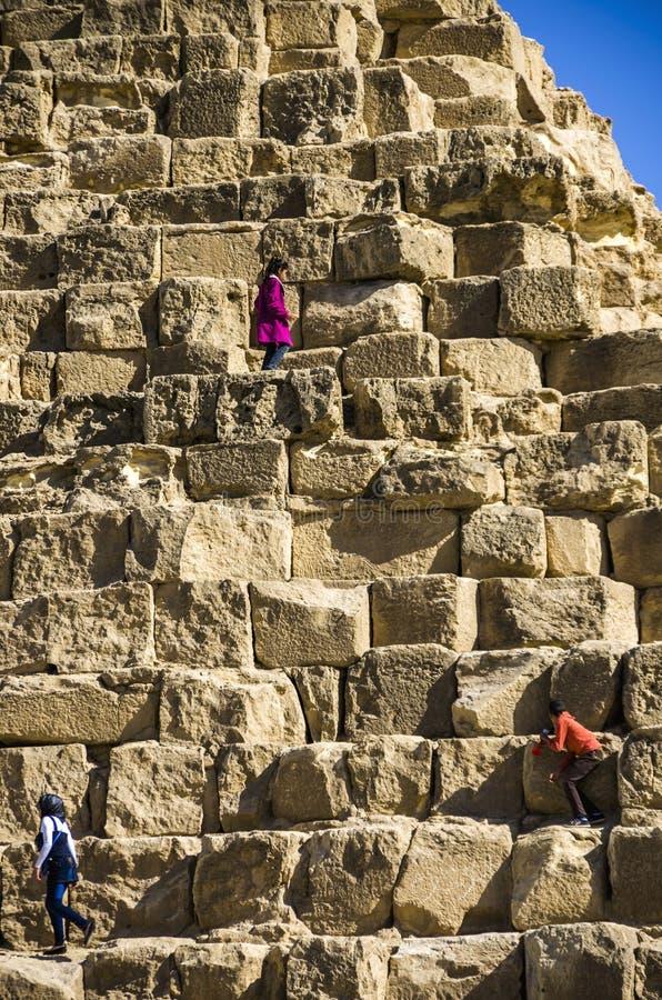 pyramides de giza Le Caire, Egypte photo stock