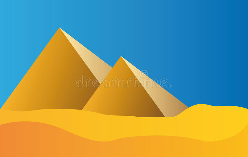 Pyramides de l'Egypte et ciel bleu illustration libre de droits