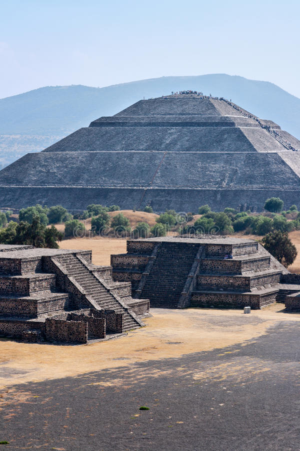 Pyramides de Teotihuacan photos libres de droits
