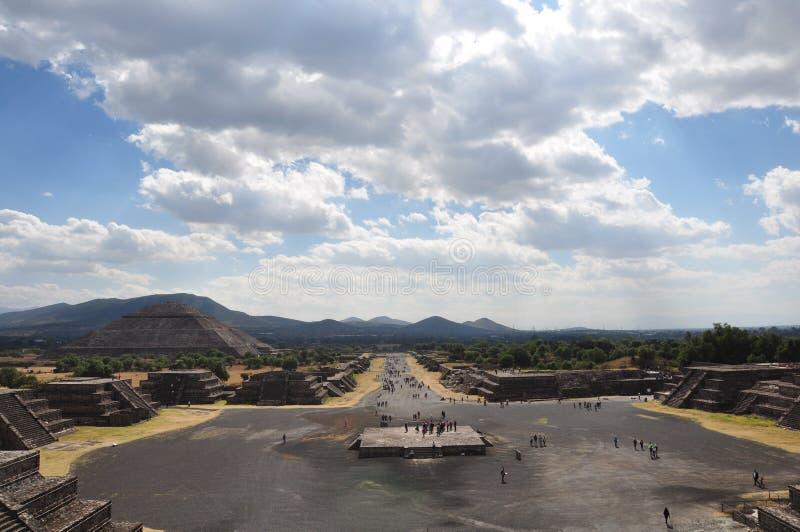 Pyramides de Teotihuacan, Mexique images libres de droits
