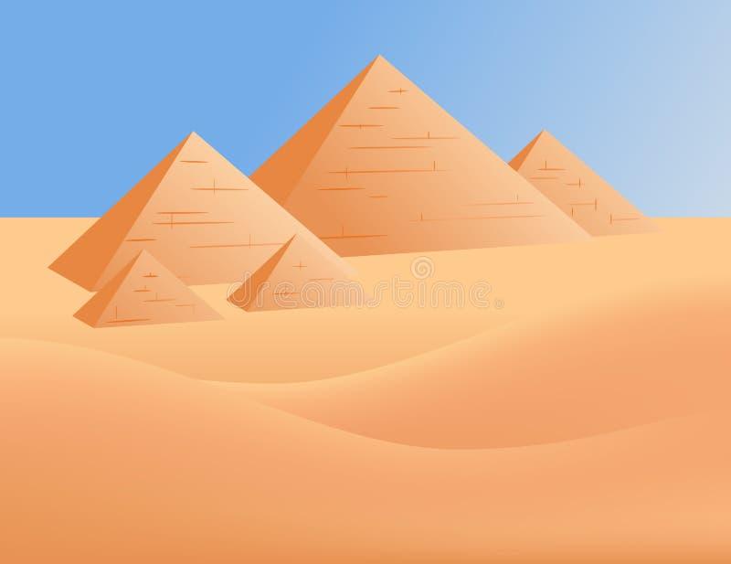 Pyramides en Egypte illustration libre de droits
