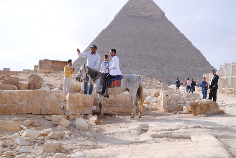 Pyramides en Egypte photos libres de droits