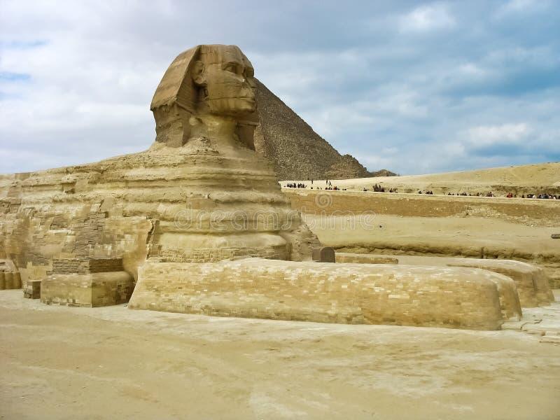 Pyramides et Sphynx image libre de droits