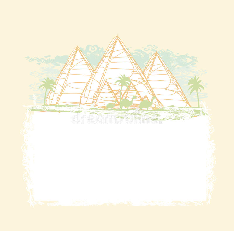 Pyramides Giza illustration de vecteur