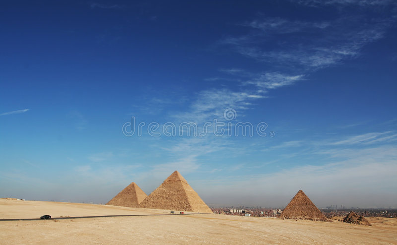 Pyramids. Egyrtian piramids in Giza,Egypt stock images