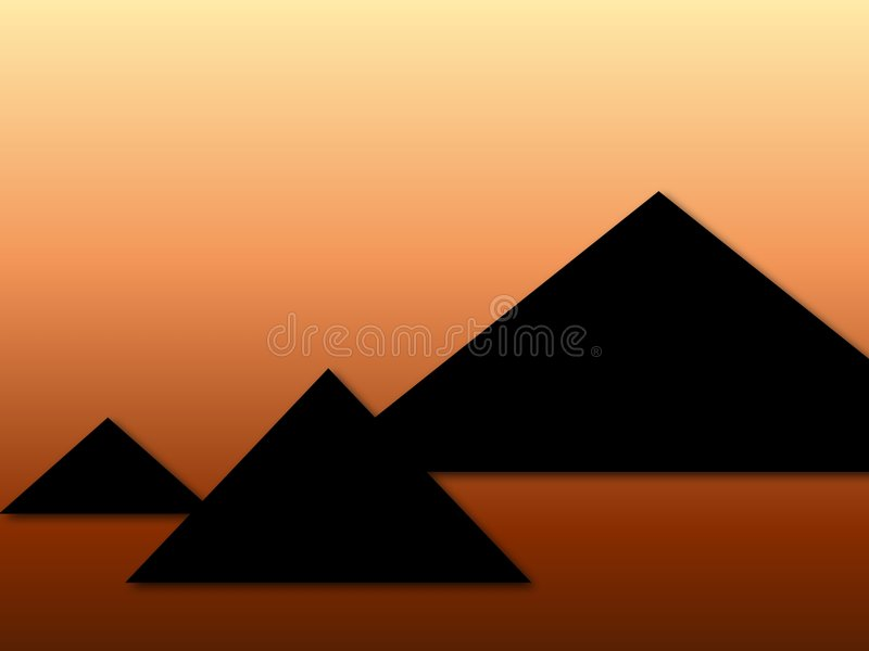 Pyramids royalty free illustration