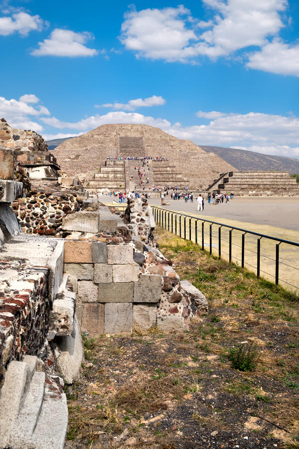 Ruins Of The Pyramids Of Pre-Columbian City Teotihuacan
