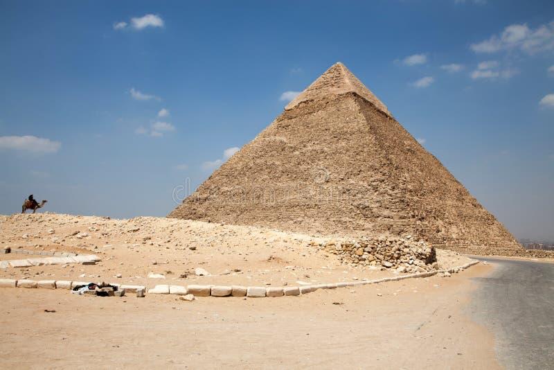 Pyramids at Egypt. Great pyramids at Giza, Egypt stock photos