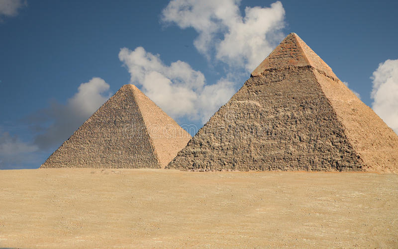 Pyramids of Giza stock photography