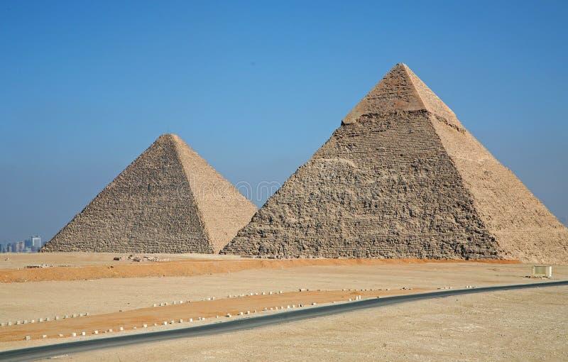 Pyramids of Giza royalty free stock photo