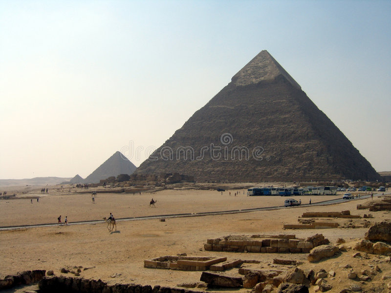 Download Pyramids of Giza stock image. Image of arab, stone, pharaoh - 464529
