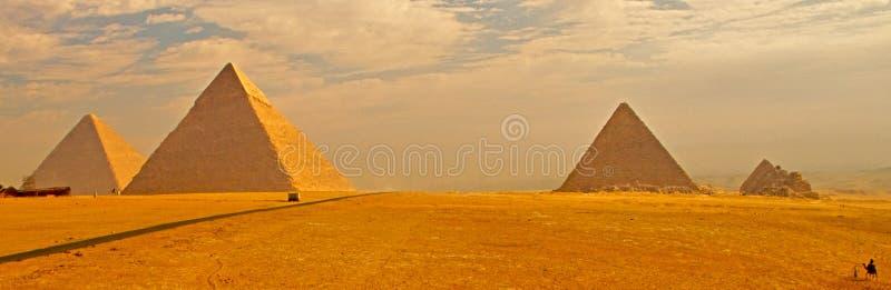 Pyramids of Giza royalty free stock photography